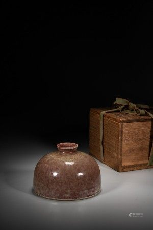 A CHINESE PEACHBLOOM GLAZED WATER POT