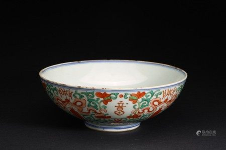 A CHINESE ENAMELLED 'FLOWERS' BOWL