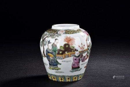 A WUCAI FIGURES JAR