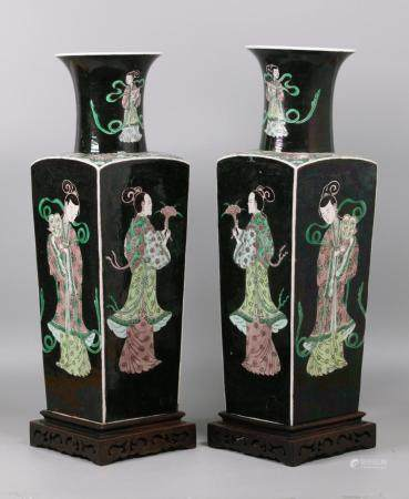 pair of Chinese porcelain vases, possibly 19th c.