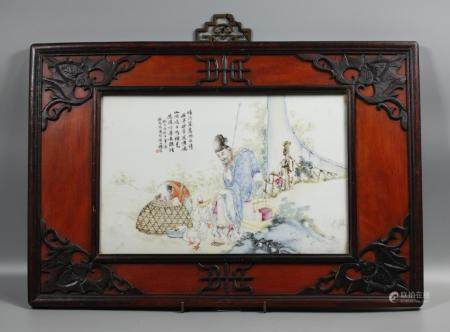 Chinese porcelain plaque, possibly Republican period