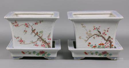 pair of Chinese porcelain planters, possibly 19th c./Republican period