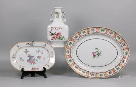 3 Chinese porcelain wares, possibly 19th c.