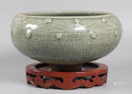 Chinese celadon censer, possibly Yuan dynasty