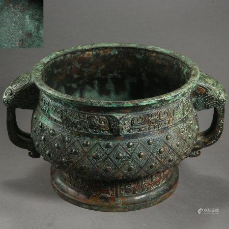 ANCIENT CHINESE BRONZE CENSER