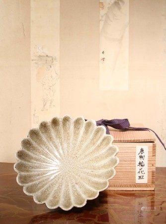 明代 哥釉菊瓣盤