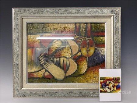 畢加索人物油畫