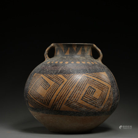 CHINESE MAJIAYAO CULTURAL PAINTED POTTERY