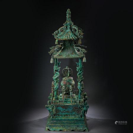 BRONZE BUDDHIST NICHE, LIAO OR JIN DYNASTIES, CHINA