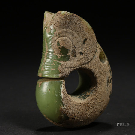 JADE PIG DRAGON, RED MOUNTAIN CULTURE, CHINA