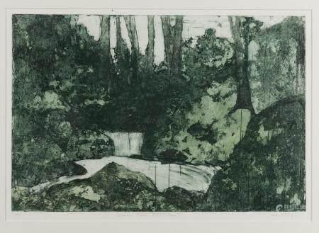 RAYMOND E. WOODS (BORN 1931) Coral Lyn Cascades