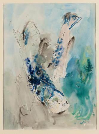 LEIF NILSSON (BORN 1937) Figure in Landscape 1970