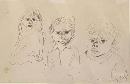 JOHN MOLVIG (1923-1970) Three Figures 1958