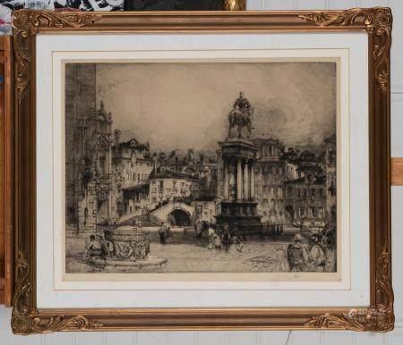 HEDLEY FITTON (BRITISH, 1858-1929) Campo Santi Giovanni e Paolo, Venice