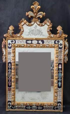 Prächtiger venezianischer Spiegel, 19. Jahrhundert