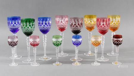 14 Wein- und Likör-Römer, Glashütte Klokotschnik