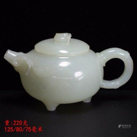 和田玉茶壺