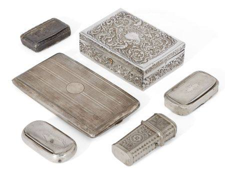 An Edwardian silver box, London, c.1901, W. Comyns, of rectangular form, the lid and sides decorated