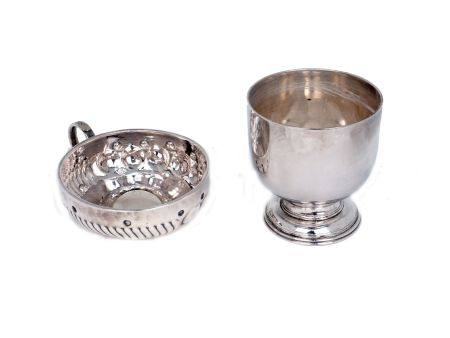 A 19th century French silver wine taster, Cesar Tonnelier, Paris, 1845-1882, of traditional form