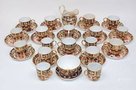 A part-service of Royal Crown Derby in Imari pattern, comprising: slop bowl, 9.5cm wide, with