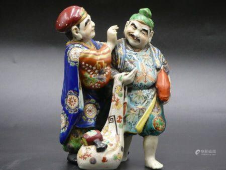 CHINE. Pêchs en porcelaine