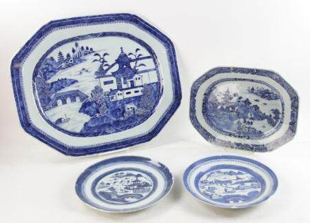 Four Canton China Items