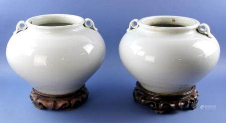 Old Chinese Celedon Urns with Stand