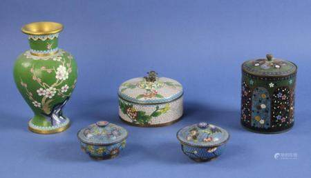 Collection of Chinese Cloisonne Pieces