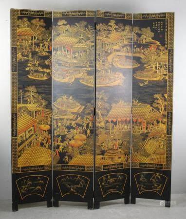 Chinese 6 Panel Folding Screen