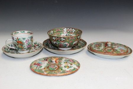 Group of Chinese Rose Medallion Porcelain Items