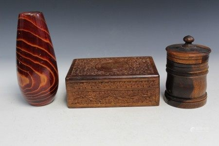 Three Decorative Wood items