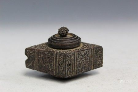 Antique Carved Horn Box