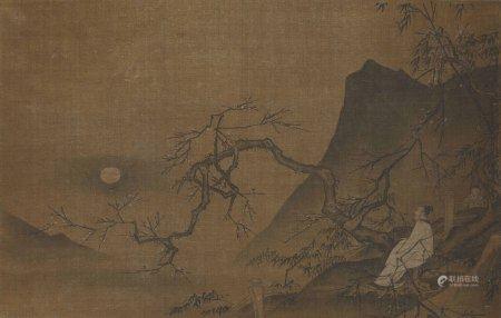 佚名 梅花赏月