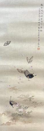 近現代 梅蘭芳 群蝶圖