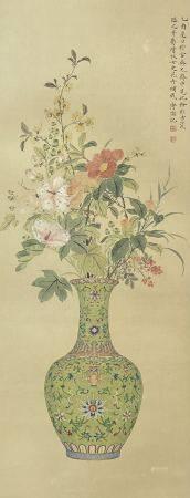 近现代 溥儒 花卉