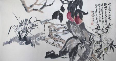 近现代 陆俨少、王个移、吴青霞、唐云、程十发 花卉