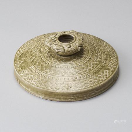 越州窯 西晉 青瓷印紋蛙型水盂