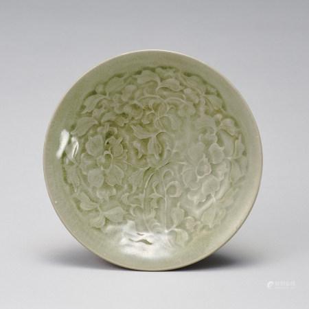 耀州窯 北宋 青瓷印花紋盤