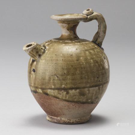 唐代 黃釉執壺
