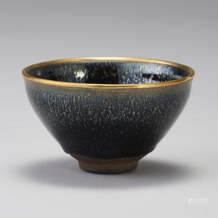 「進琖」款 純金覆輪 油滴碗