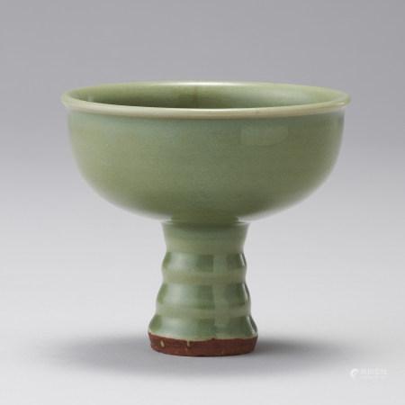 龍泉窯 明代 青瓷高足杯