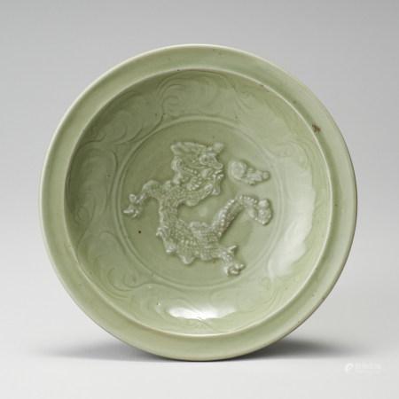 龍泉窯 元代 青瓷龍紋盤