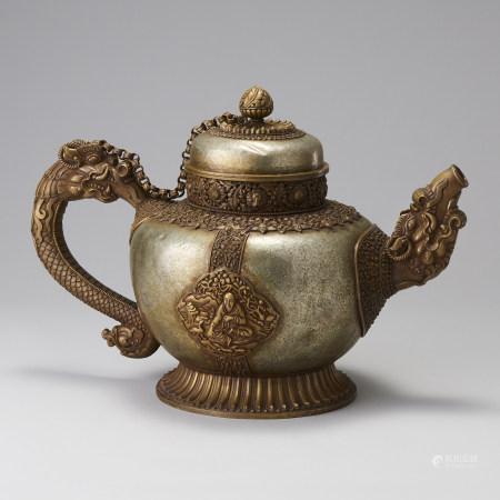 銅製喇嘛式龍口執壺
