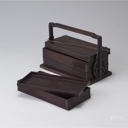 紅木提梁盒