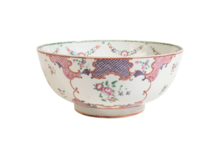 A CHINESE EXPORT FAMILLE ROSE BOWL,