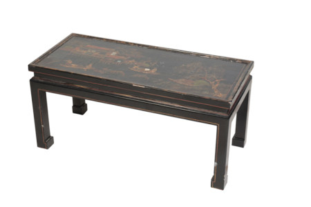 CHINESE BLACK LACQUER LOW TABLE, QING DYNASTY AND LATER