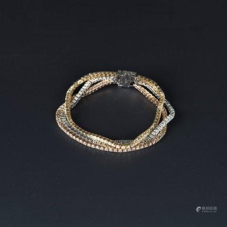 DIAMOND BRACELET, AIGL CERTIFIED