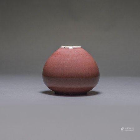 A PEACH-BLOOM-GLAZED WATER POT