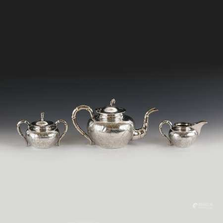 WAI KEE CHINESE EXPORT SILVER TEA SETS