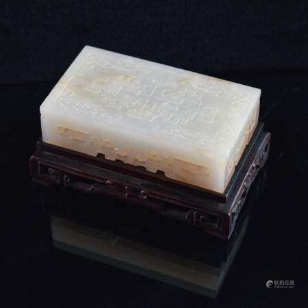 LOW ALTAR TABLE CARVED JADE PAPER WEIGHT
